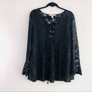 Forever 21 Black Lace Top
